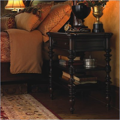 Lexington Barclay Square Winslow Nightstand in Distressed Brownstone