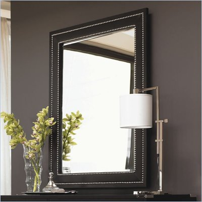 Lexington Black Ice Quartz Mirror in Carbon Black