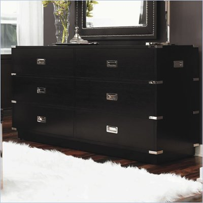 Lexington Black Ice Topaz Double Dresser in Carbon Black