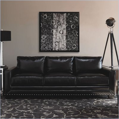 Lexington Black Ice Sapphire Leather Sofa in Black