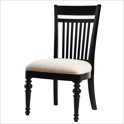 Lexington Long Cove Montauk Fabric Side Chair in Midnight Brown Finish