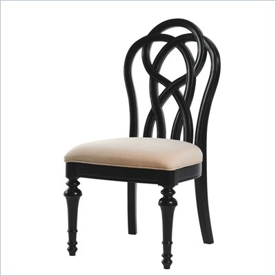 Lexington Long Cove Glen Arbor Fabric Side Chair in Midnight Brown Finish
