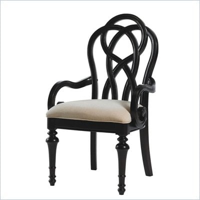 Lexington Long Cove Glen Arbor Fabric Arm Chair in Midnight(Assembled)