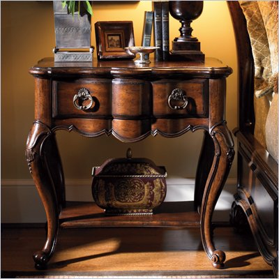Lexington Palos Verdes Chatsworth Nightstand in Deep Russet Brown