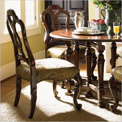 Lexington Palos Verdes Monterey Side Chair in Deep Russet Brown