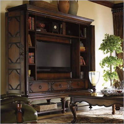 Lexington Palos Verdes Baldwin Entertainment Stand in Russet Brown