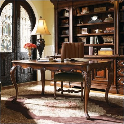 Lexington Palos Verdes Newport Writing Desk in Deep Russet Brown