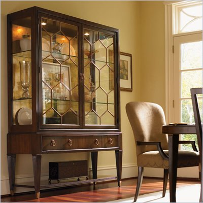 Lexington St.Tropez Belfort China Cabinet in Rich Walnut Brown
