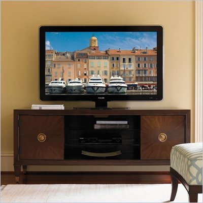Lexington St.Tropez Grand Isle TV Stand in Rich Walnut Brown