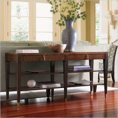 Lexington St.Tropez Rochelle Sofa Table in Rich Walnut Brown