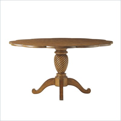 Lexington Twilight Bay Barrett 60 Inch Round Dining Table in Chestnut