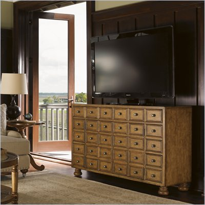 Lexington Twilight Bay Andrews TV Stand in Chestnut