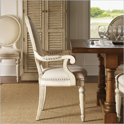 Lexington Twilight Bay Byerly Arm Chair in Antique Linen