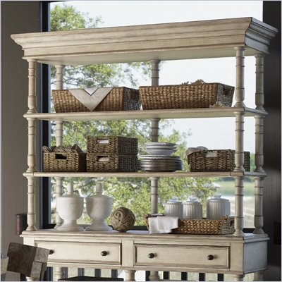 Lexington Twilight Bay Merideth Hutch in Antique Linen