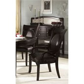 Somerton Signature Upholstered Dining Arm Chair in Mocha Finish