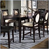 Somerton Signature Rectangular Counter Height Dining Table in Mocha Finish