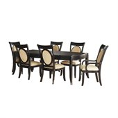 Somerton Signature Rectangular Casual Dining Table in Mocha Finish