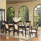 Somerton Signature Rectangular Glass Top Table 9 Piece Dining Set