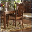 ADD TO YOUR SET: Somerton Rhythm Fabric Dining Arm Chair in Burnished Rum Finish
