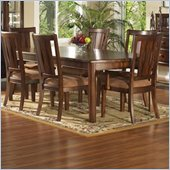 Somerton Rhythm Rectangular Casual Dining Table in Burnished Rum Finish