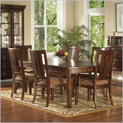 Somerton Dwelling Rhythm 5 Piece Dining Set in Burnished Rum Finish