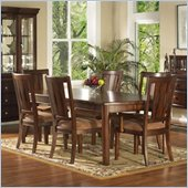 Somerton Rhythm 5 Piece Dining Set in Burnished Rum Finish