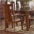 ADD TO YOUR SET: Somerton Runway Contemporary Fabric Dining Arm Chair in Warm Brown Finish
