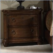 Somerton Melbourne Traditional 2 Drawer Night Stand in Warm Brown