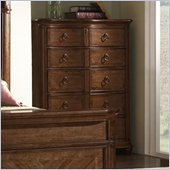 Somerton Melbourne Traditional 5 Drawer Chest in Warm Brown Finish