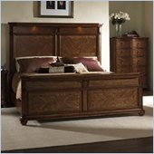 Somerton Melbourne Traditional Panel Bed in Warm Brown Finish