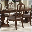 ADD TO YOUR SET: Somerton Melbourne Traditional Fabric Dining Side Chair in Warm Brown Finish