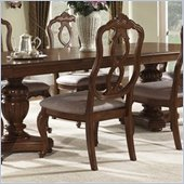 Somerton Melbourne Traditional Fabric Dining Side Chair in Warm Brown Finish