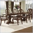 ADD TO YOUR SET: Somerton Melbourne Traditional Pedestal Formal Dining Table in Warm Brown Finish
