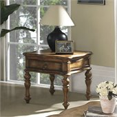 Somerton Melbourne Traditional End Table in Warm Brown