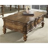 Somerton Melbourne Traditional Cocktail Table in Warm Brown
