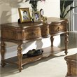 ADD TO YOUR SET: Somerton Melbourne Traditional Sofa Table in Warm Brown