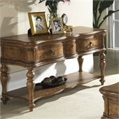 Somerton Melbourne Traditional Sofa Table in Warm Brown