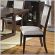 ADD TO YOUR SET: Somerton Shadow Ridge Modern Fabric Side Dining Chair in Chocolate Finish