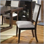 Somerton Shadow Ridge Modern Fabric Side Dining Chair in Chocolate Finish