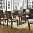 ADD TO YOUR SET: Somerton Shadow Ridge Modern Rectangular Casual Dining Table in Chocolate Finish