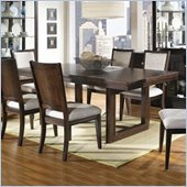 Somerton Shadow Ridge Modern Rectangular Casual Dining Table in Chocolate Finish