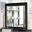 ADD TO YOUR SET: Somerton Shadow Ridge Modern Beveled Mirror in Chocolate