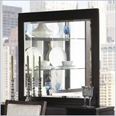 Somerton Shadow Ridge Modern Beveled Mirror in Chocolate