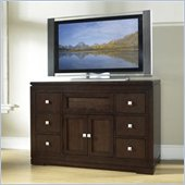 Somerton Shadow Ridge Modern Entertainment Unit in Chocolate