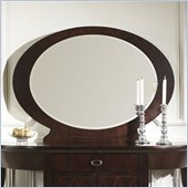 Somerton Crossroads Oval Mirror in Deep Burnished Brown