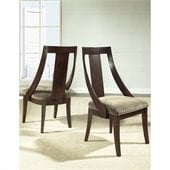 Somerton Cirque Fabric Dining Side Chair in Merlot Finish