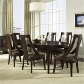 Somerton Cirque 7 Piece Dining Set in Merlot