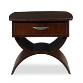 Somerton Cirque End Table in Merlot