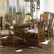 ADD TO YOUR SET: Somerton Craftsman Mission Casual Dining Table in Brown Finish