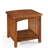 Somerton Craftsman Mission End Table in Brown Finish